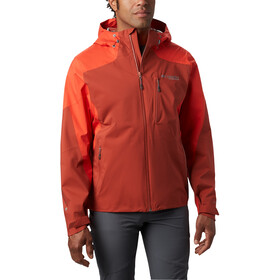 Columbia Titan Pass Veste shell 2.5L Homme, carnelian red/waldfire